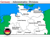 Germany Map  power Point theme