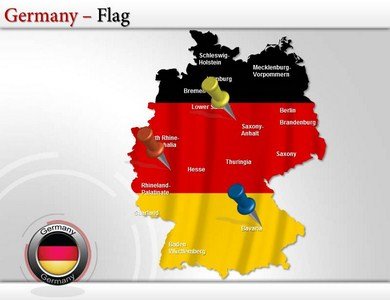 germany map powerpoint ppt templates interactive germany maps for