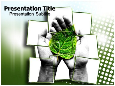 Save Green Powerpoint Templates