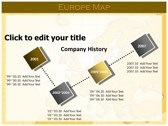 Europe Map  powerpoint backgrounds download
