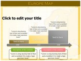 Europe Map  powerPoint themes