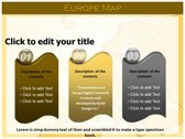 Europe Map  powerpoint theme download