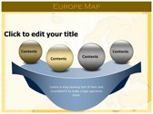 Europe Map  powerpoint theme templates