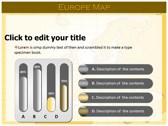 Europe Map  powerpoint theme professional