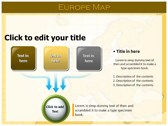 Europe Map  powerpoint themes download