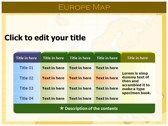 Europe Map  ppt themes