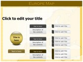 Europe Map  ppt themes template