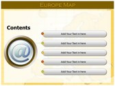 Europe Map  ppt templates
