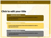 Europe Map  powerpoint download
