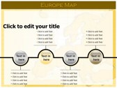 Europe Map  power Point templates
