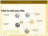 Europe Map  background PowerPoint Templates