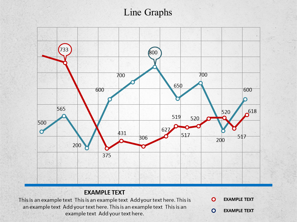 line graph ppt templates