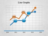 Line Graphs powerPoint template