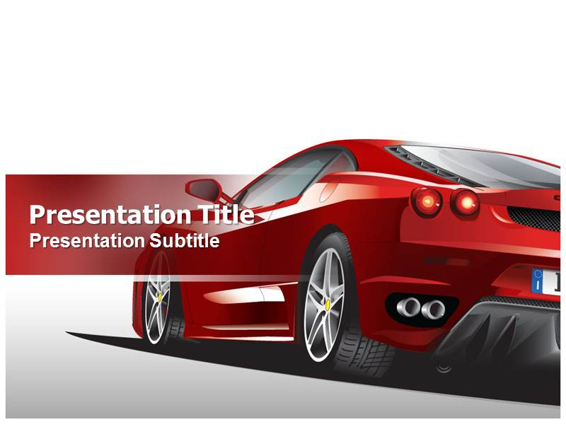 race car powerpoint template with niche ppt backgound on race car