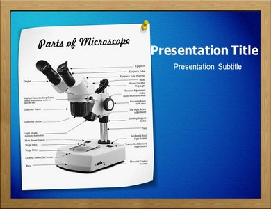 Parts Of Microscope Powerpoint Templates
