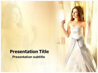 Lady in White Powerpoint Templates