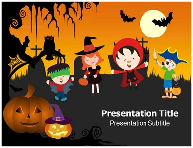 Halloween ppt template and backgrounds slideworld halloween powerpoint templates toneelgroepblik Images