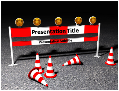Road Barriers 3D Powerpoint Templates