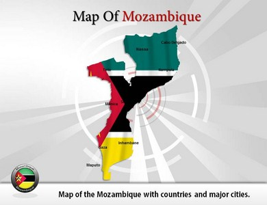 Map-of-Mozambique  PowerPoint Templates