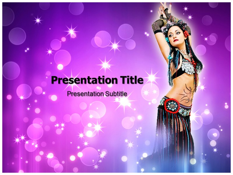 Belly dancer Powerpoint Templates