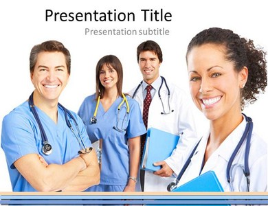 Doctor team Powerpoint Templates