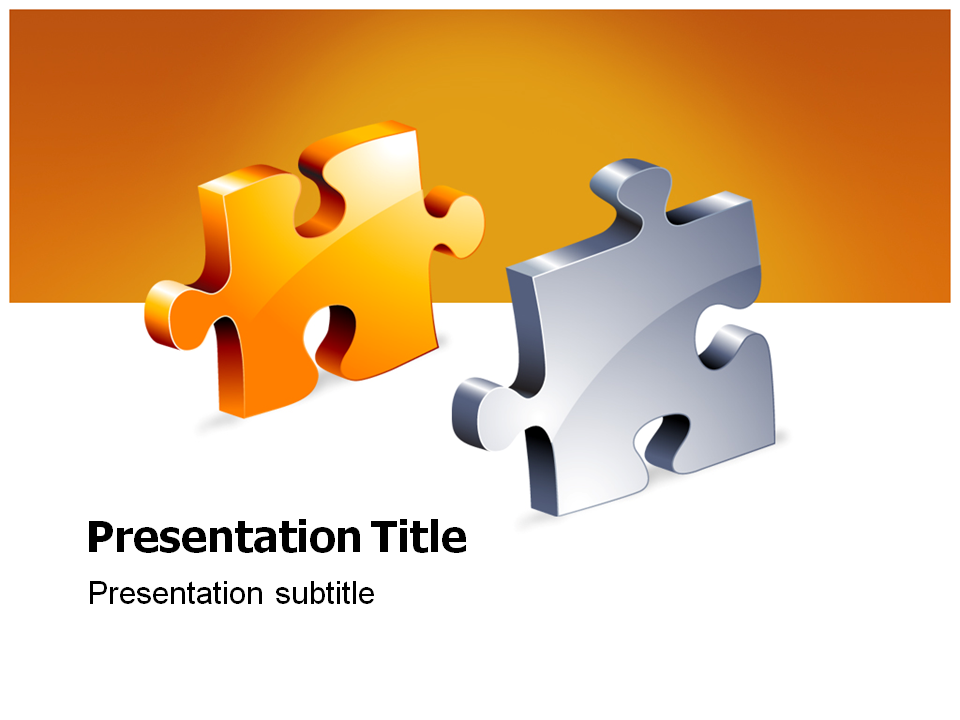 jigsaw (ppt)powerpoint template | puzzle template background, Modern powerpoint