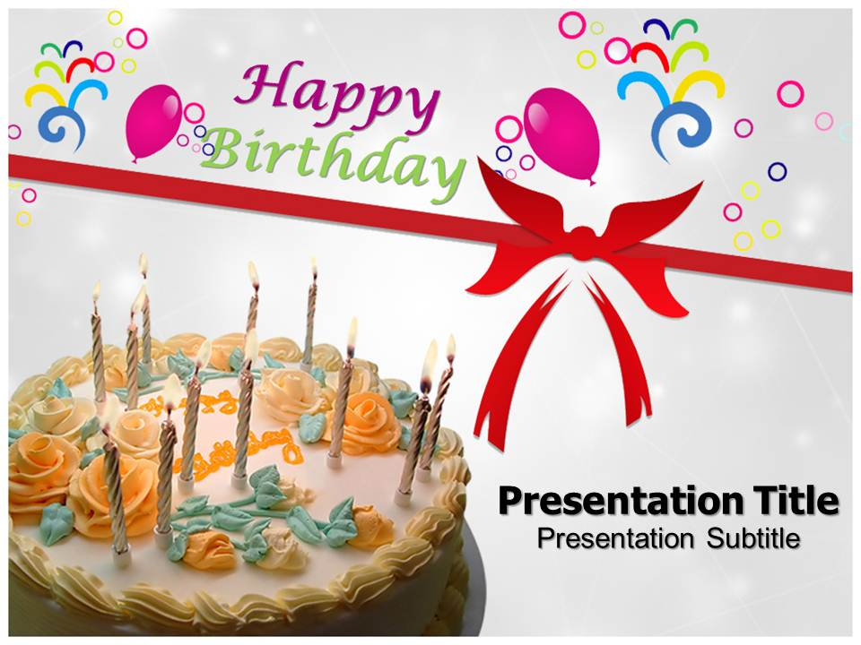 powerpoint template happy birthday image collections - powerpoint, Powerpoint templates