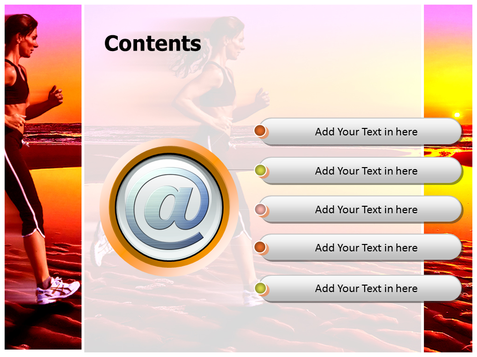 Sunset Jogging Benefits Powerpoint Templates