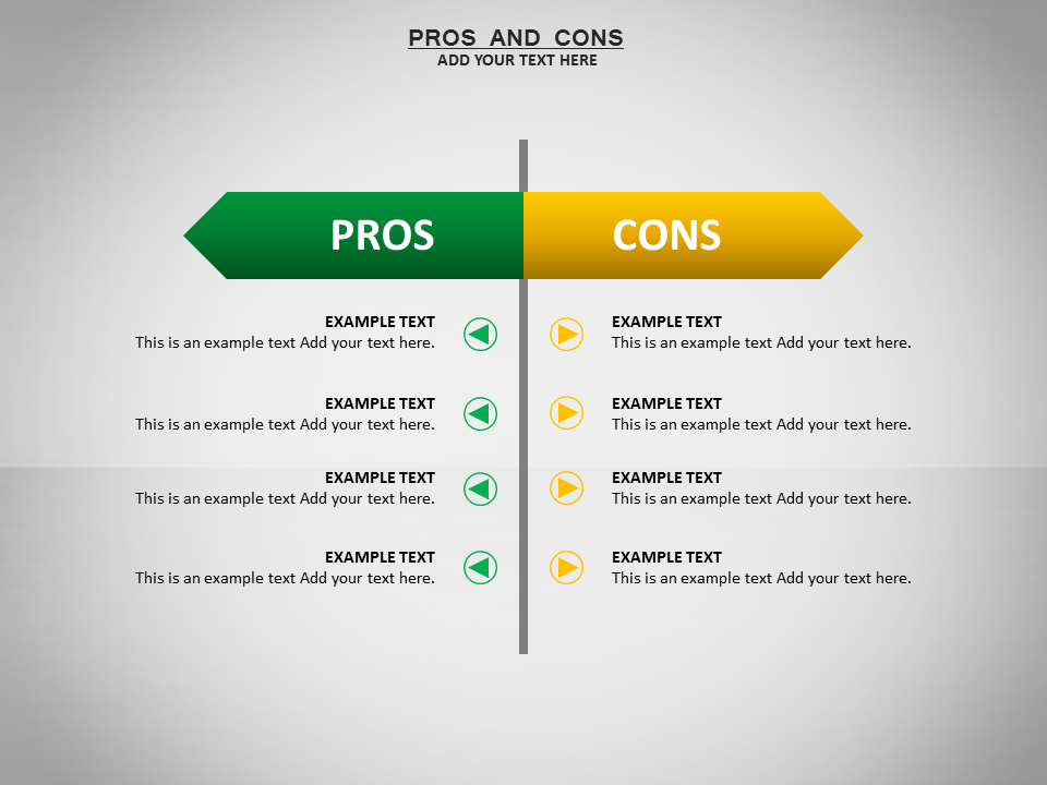 Pros and cons powerpoint templates pros and cons ppt for Pros and cons matrix template