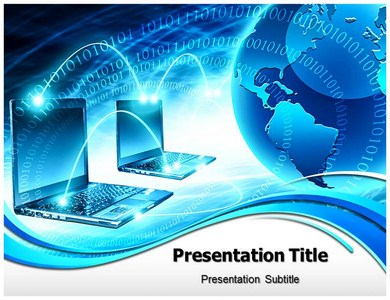 global computer network powerpoint templates | powerpoint, Powerpoint templates