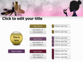 Makeup Tips ppt themes template