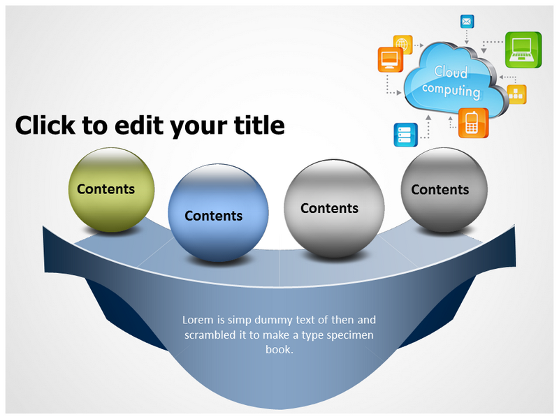 Cloud Computing Logo Powerpoint Templates