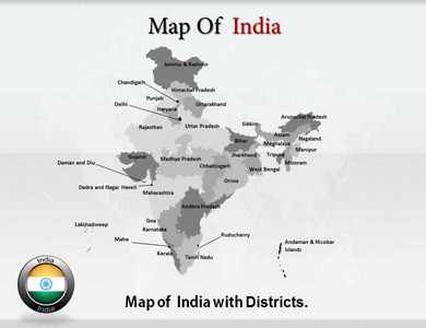 India Maps Powerpoint Templates