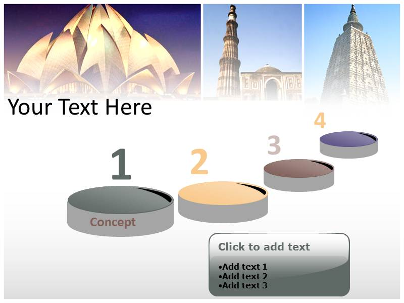 Tourism history in india powerpoint ppt template tourism in my toneelgroepblik Image collections