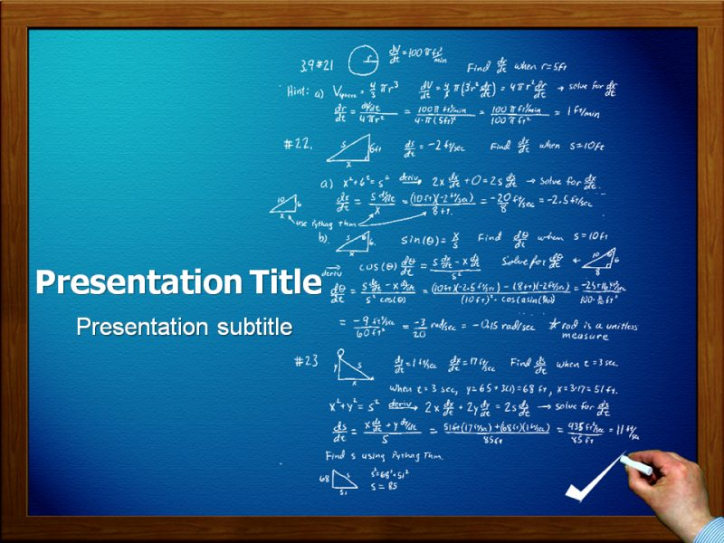 Math Powerpoint Ppt Templates Powerpoint Template For Math