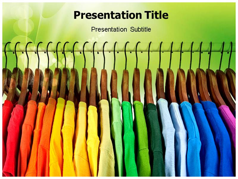 cloth yard powerpoint  ppt  presentation template