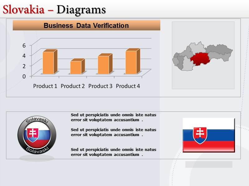 Map of Slovakia  PowerPoint Templates
