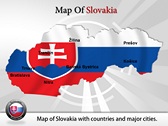 Map of Slovakia  powerPoint template
