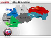 Map of Slovakia  powerpoint template download