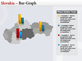 Map of Slovakia  slides for powerpoint