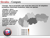 Map of Slovakia  power Point templates