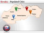 Map of Slovakia  power Point Backgrounds