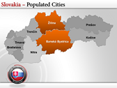Map of Slovakia  design for power point