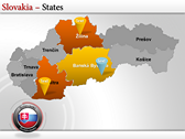 Map of Slovakia  power point download