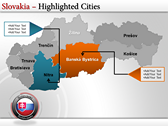 Map of Slovakia  full powerpoint download