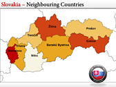 Map of Slovakia  power point background graphics
