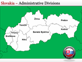 Map of Slovakia  power Point theme