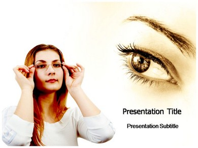 Eye Glass Powerpoint Templates