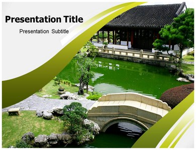 chinese architecture powerpoint(ppt) template | architecture ppt, Powerpoint templates
