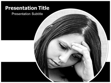anxiety powerpoint(ppt) template | anxiety powerpoint presentation, Modern powerpoint